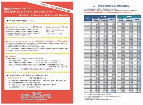 NHK放送受信料のお支払いは『放送受信料取りまとめ』のご利用でお得になります!